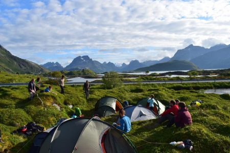 Wild Camping in the Lofoten Islands Summer Expedition. Photo -- Adam Dawson