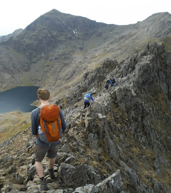 Photo showing Crib Goch in Snowdonia