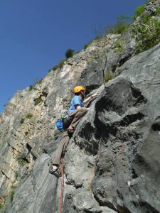Photo of a climber in the Avon Gorge, Bristol