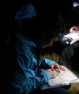 Photo showing night navigation training