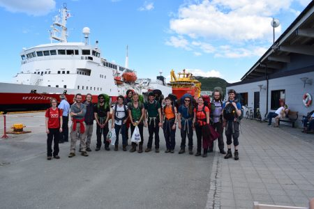 Ready to board the ferry to the islands, Adam Dawson