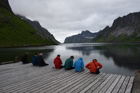 Waiting for the ferry at Kjerkfjorden, Adam Dawson