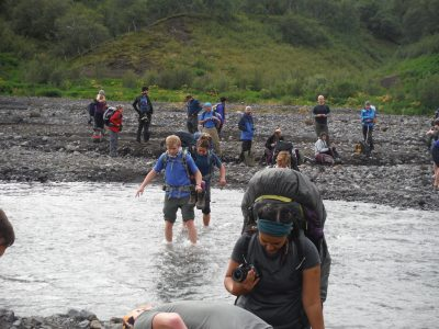 A trek in Iceland isn't complete without fording an ice-cold stream, A Robertson